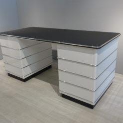 müller Outlet TB 229-5 Classic Line Schreibtisch in weiß mit Zierleisten