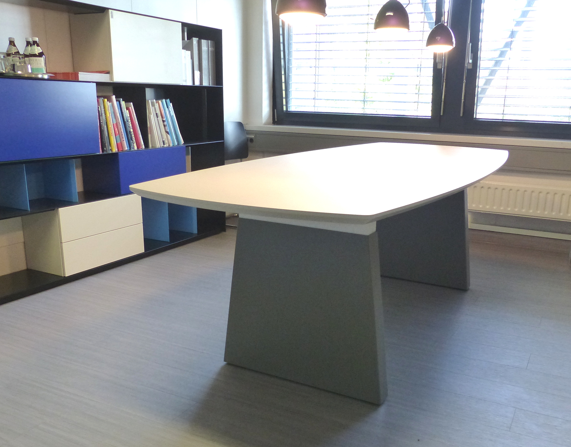 müller outlet M15 Workspace Konferenztisch Esstisch grau weißr