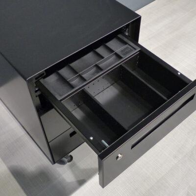 müller metall möbel Outlet WR 40-1 Büro Rollcontainer schwarz