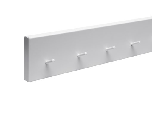 müller RAIL wall wardrobe hook bar white