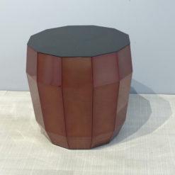 müller outlet MO07 Beistelltisch Hocker in Kupferlasur mit Aluplatteschwarz