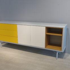 mueller Modular Sideboard grau weiß gelb