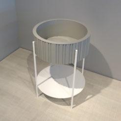 müller outlet TWIST Box Pflanztisch Minibar grau weiß
