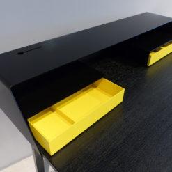 mueller outlet PS04 Sekretär Eiche schwarz gelb