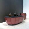müller outlet MO09 Couchtisch in Kupferlasur mit Aluplatteschwarz