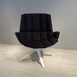 mueller metall möbel outlet MARTINI CHAIR Lounge Sessel weiß mit Filzpolster in anthrazit