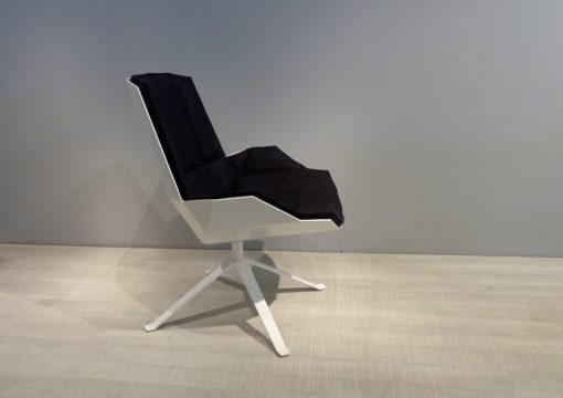 mueller metall möbel outlet MARTINI CHAIR Lounge Sessel weiß mit Filzpolster in anthrazit