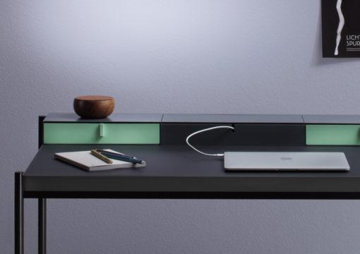 mueller metall möbel PS20 Sekretär mit Linoleumarbeitsfläche