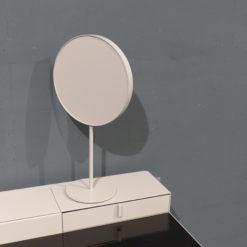 mueller metall möbel PS20 Standspiegel Schminktischspiegel rosawarz mit Glasplatte