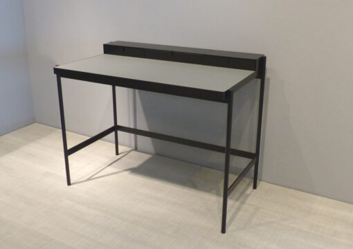 mueller metall möbel PS 20 Sekretär schwarz mit grauer Linoleumarbeitsfläche