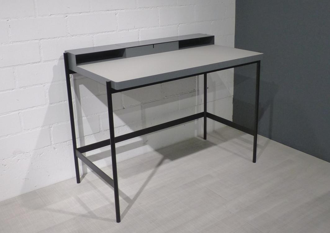 müller metall möbel PS20 Sekretär basaltgrau mit Linoleumarbeitsfläche