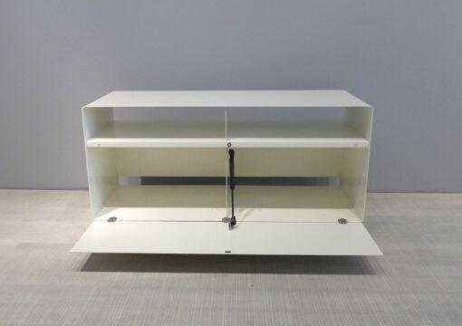 müller metall möbel outlet Sideboard R108 auf Transparenrollen reinweiss