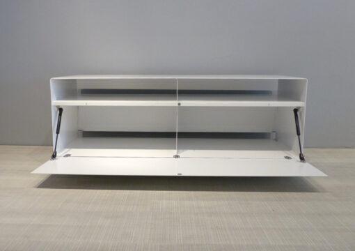 müller metall möbel outlet Sideboard R109N auf Transparenrollen signalweiß