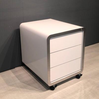 müller metall möbel outlet R20 Rollcontainer weiß mit Chromkante
