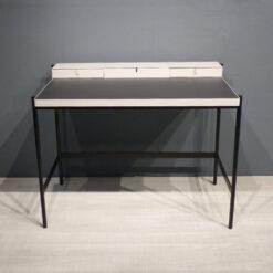 müller metall möbel Outlet PS20 Sekretär seidengrau und schwarz mit Linoleumarbeitsfläche