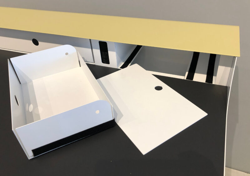 müller metall möbel Outlet PS10 Big Sekretär gruenbeige weiss schwarz