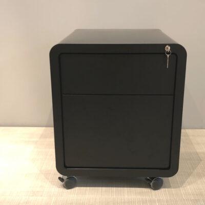 müller metall möbel outlet Highline Schreibtisch Rollcontainer schwarz mit Schublade und Hängeregisterschublade